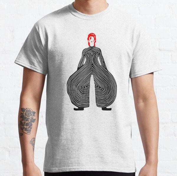David Bowie dans un pantalon bizarre T-shirt classique