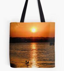 Noosa River Sunset Oct 2012. Tote Bag