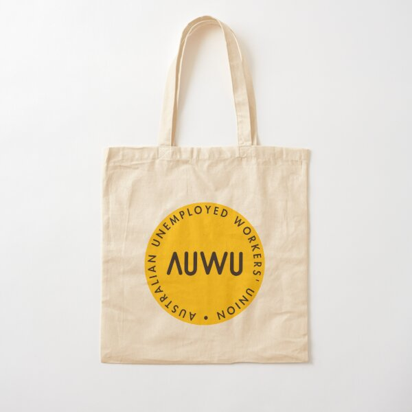 The Classic AUWU Dot Logo SOLIDARITY PRICE Cotton Tote Bag