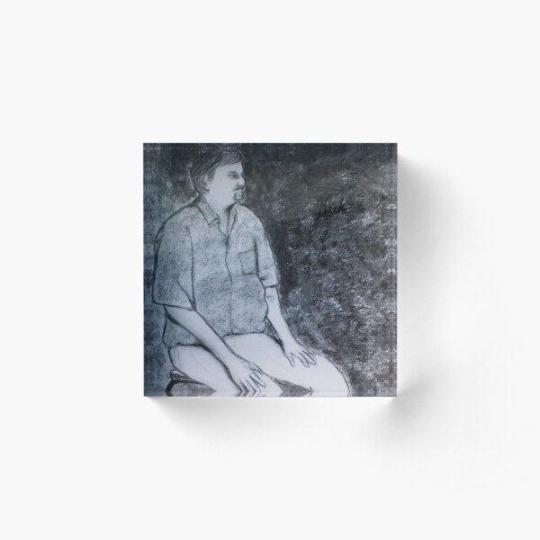Seated Figure - Nick Acrylic Block