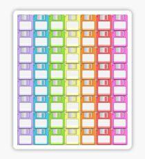 Floppy Disk Rainbow  Sticker