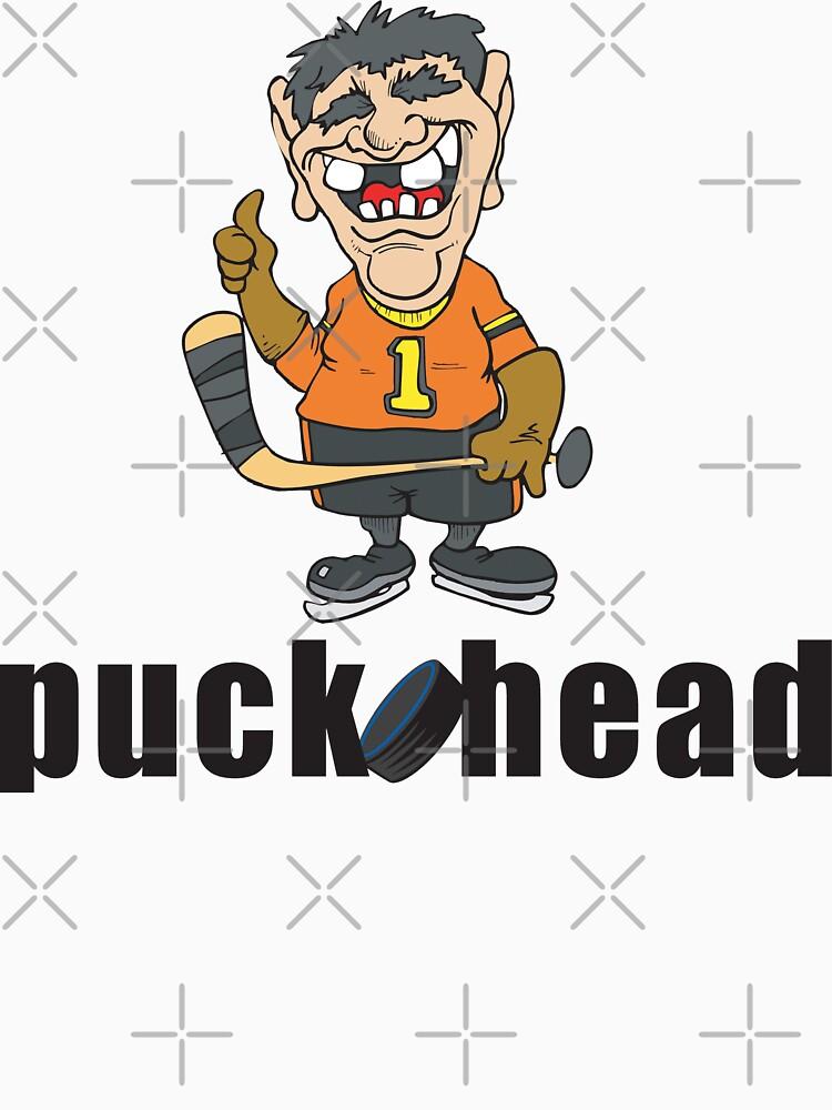 "Funny Hockey ""Puck Head"" by SportsT-Shirts"