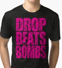 Drop Beats Not Bombs (Magenta) Tri-blend T-Shirt