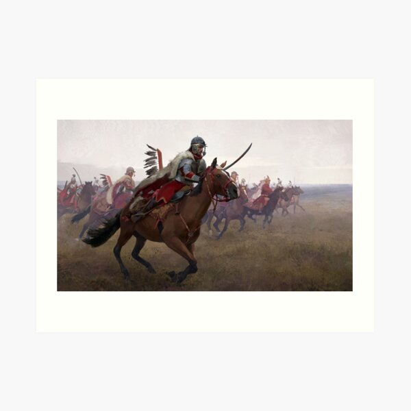 The Chase of Polish Winged Hussars Art Print