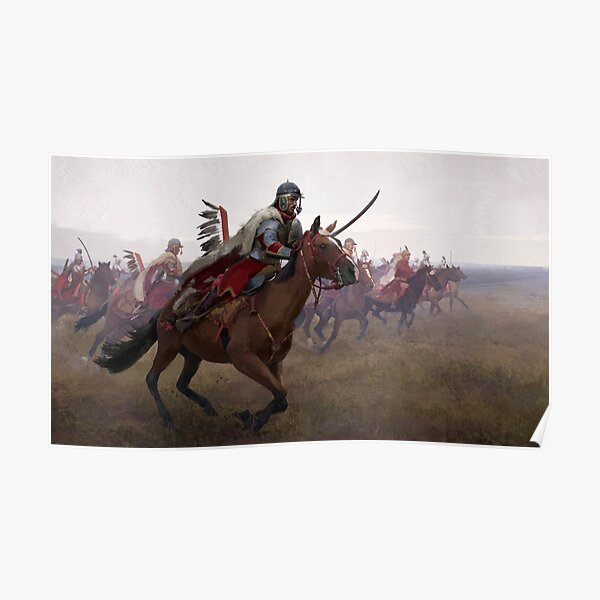 The Chase of Polish Winged Hussars Poster