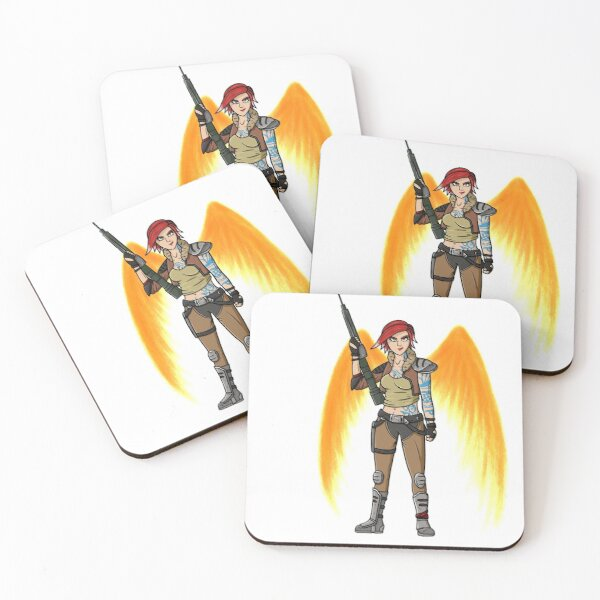Borderlands 3 Lilith with wings Coasters (Set of 4)