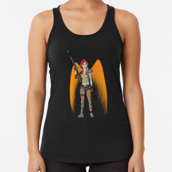 Borderlands 3 Lilith with wings Racerback Tank Top