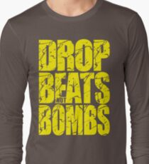 Drop Beats Not Bombs (Yellow) Long Sleeve T-Shirt