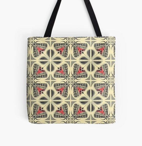 Harnessed Tiger Moth Tile  All Over Print Tote Bag