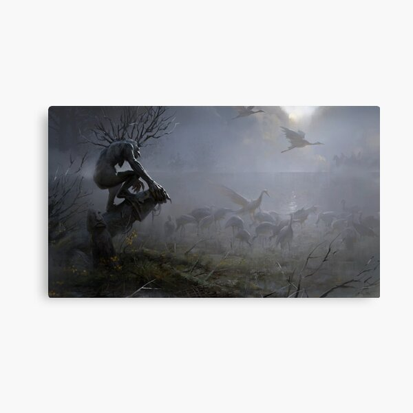 Cranes in the Fog Canvas Print