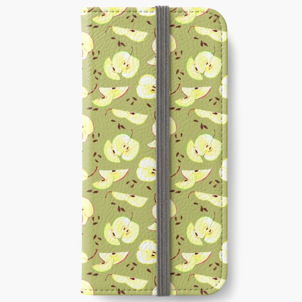 Apples and pears. fruit illustration.  iPhone Wallet