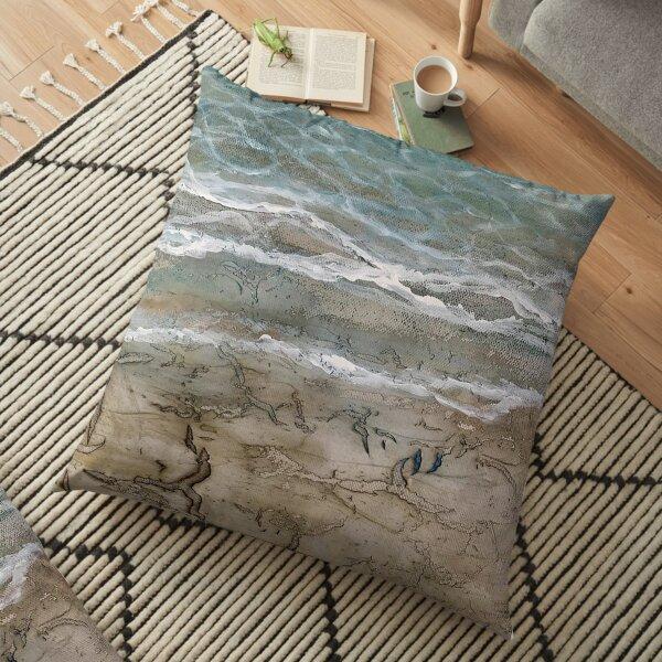 Parched Shore, Beach Bum, Beachcomber Floor Pillow