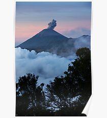 Mt Semeru at dawn. Java. Indonesia. Poster