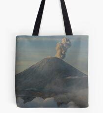 Early morning eruption. Mt Semeru, Java. Indonesia. Tote Bag