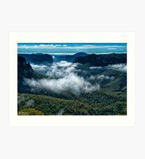 Grose Valley, Blue Mountains, Australia Art Print