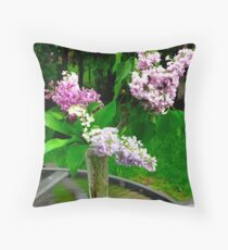 Lilac varieties Throw Pillow