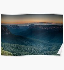 Sunrise over the Grose Valley Poster