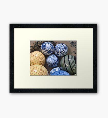 A BOWL OF BALLS Framed Print