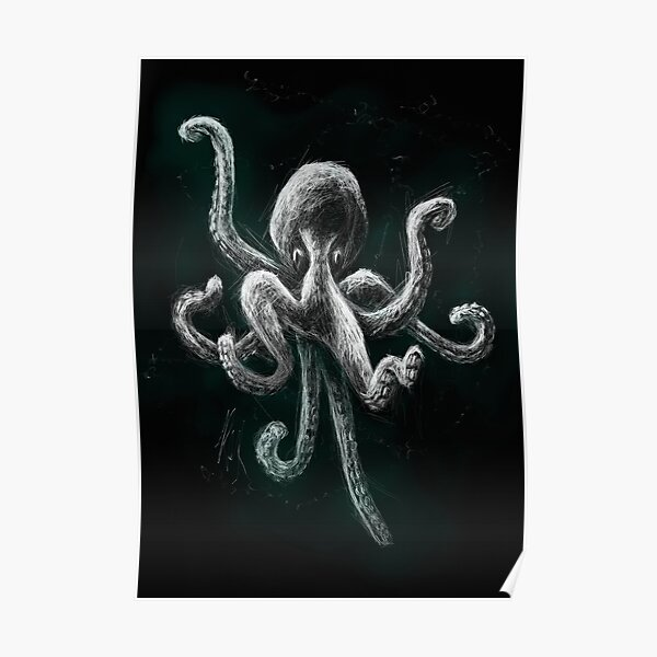 Octopus | Black Ocean Collection Poster