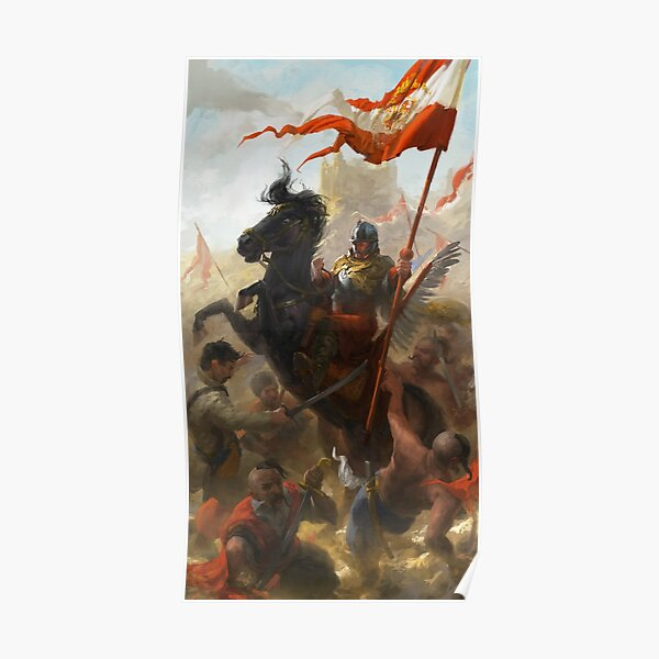 Polish Winged Hussar Bannerman Poster