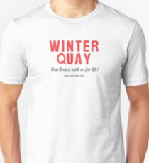 Winter Quay Hotel (on white) T-Shirt