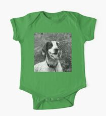 Dog portrait, spaniel in bracken One Piece - Short Sleeve