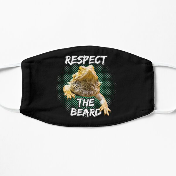 Respect The Beard - Bearded Dragon Funny Reptile T-shirt Flat Mask