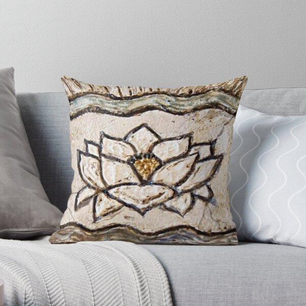 Lotus Namaste / Yoga Art / Wellness / Meditation / Mindfulness   Throw Pillow
