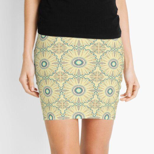 Moroccan Folk Flower Tile Mini Skirt
