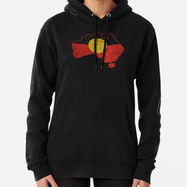 #3 Distressed Aboriginal Flag Pullover Hoodie