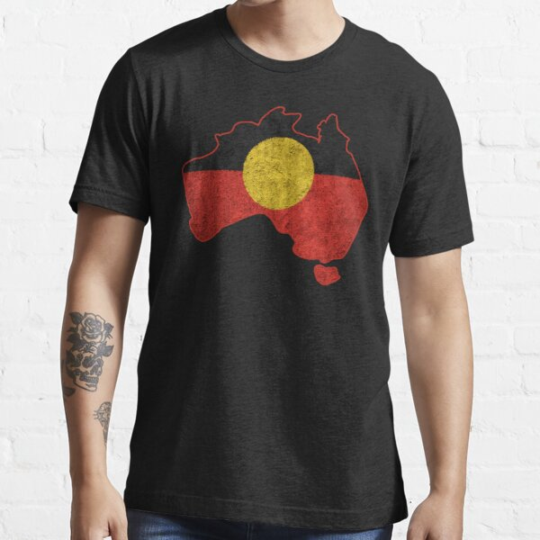 #3 Distressed Aboriginal Flag Essential T-Shirt