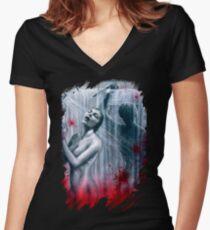 Shower Slasher Women's Fitted V-Neck T-Shirt