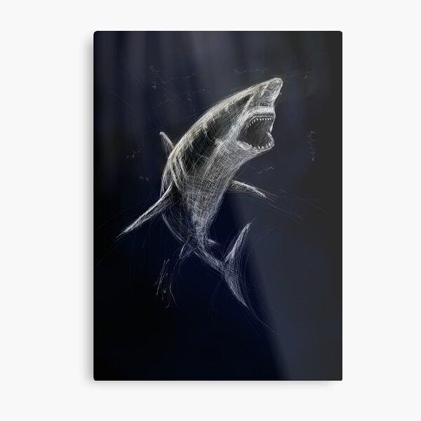 Shark | Black Ocean Collection Metal Print