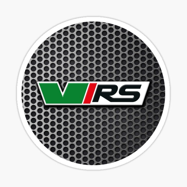 Skoda Mk1 VRS emblem on steel grille Sticker