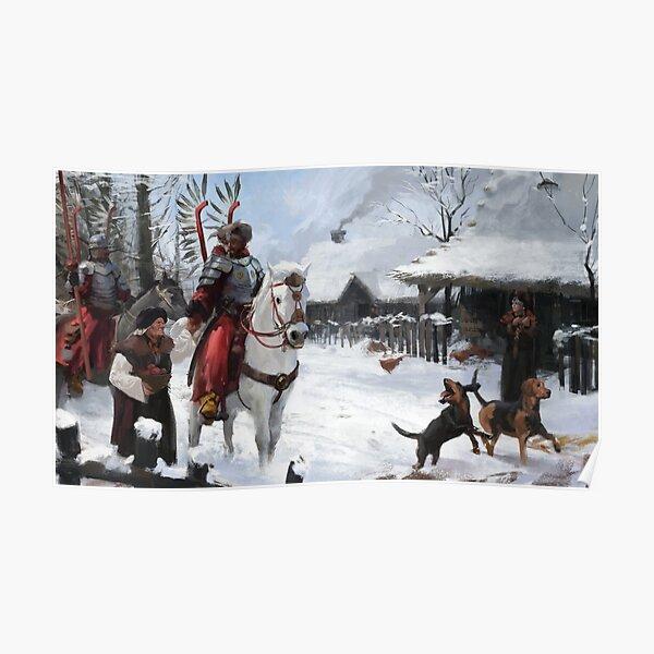 Polish Hussars Going to War Poster