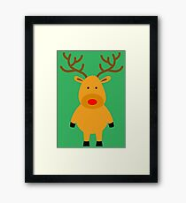 cute reindeer Framed Print