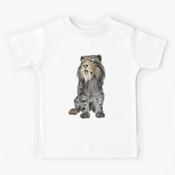 Sabertooth Tiger Kids T-Shirt