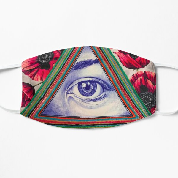 Mystic Eye with Red Poppies Mask