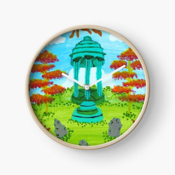 Colorful Graveyard Clock