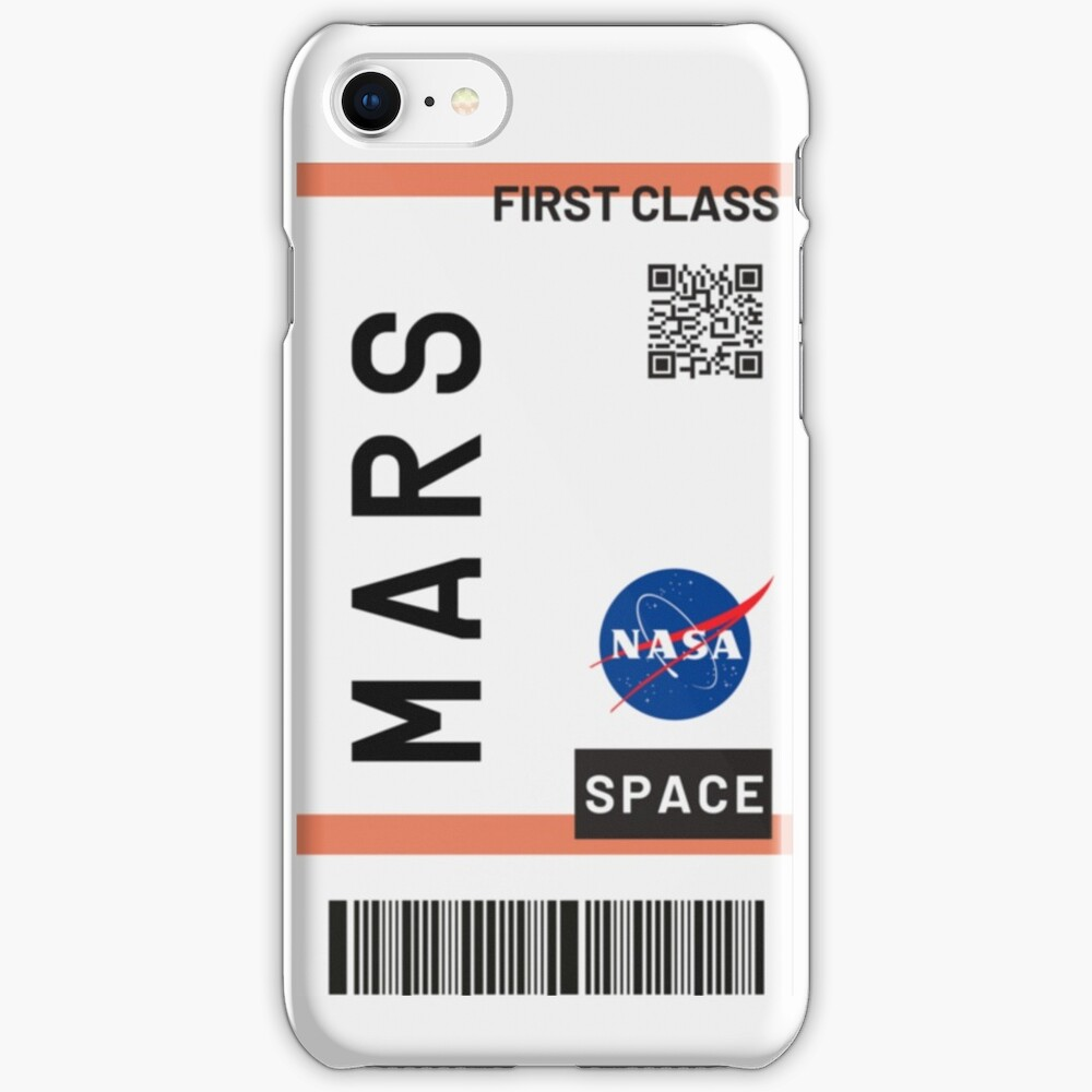 Best Seller - Mars plane ticket nasa iPhone Case & Cover