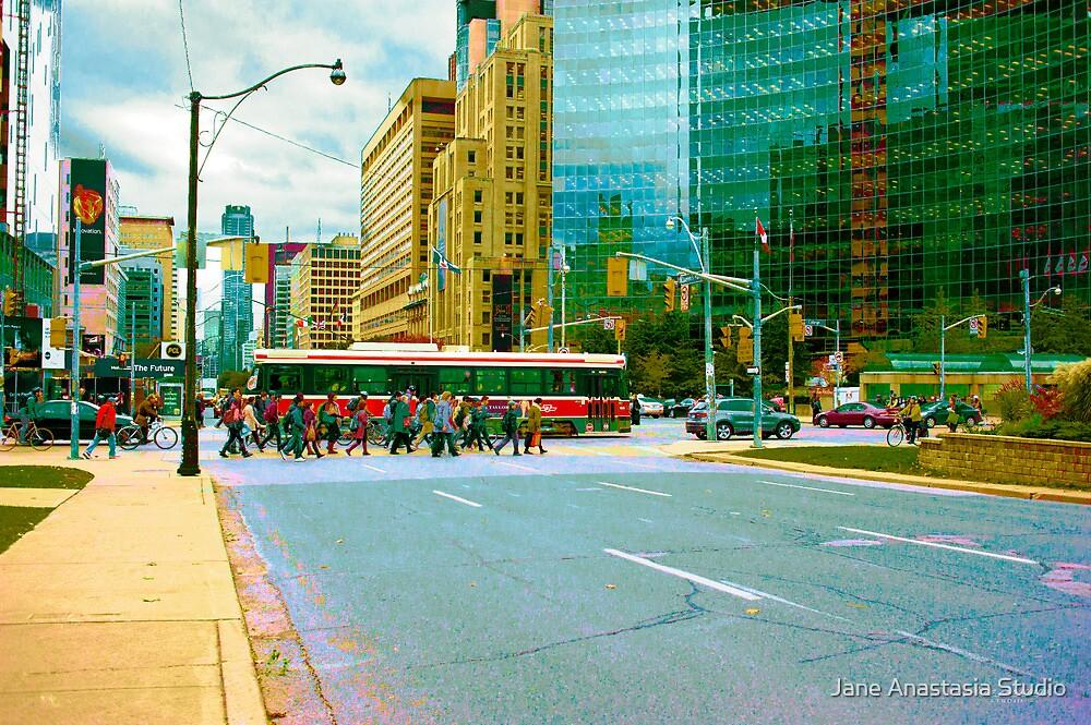 ...the morning commute......Toronto....... by Jane Anastasia Studio