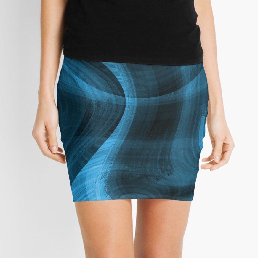 Bluish Black Hole Mini Skirt