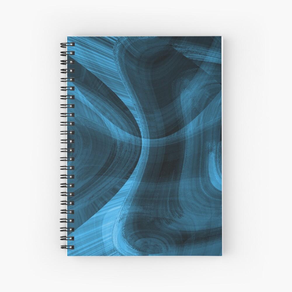 Bluish Black Hole Spiral Notebook