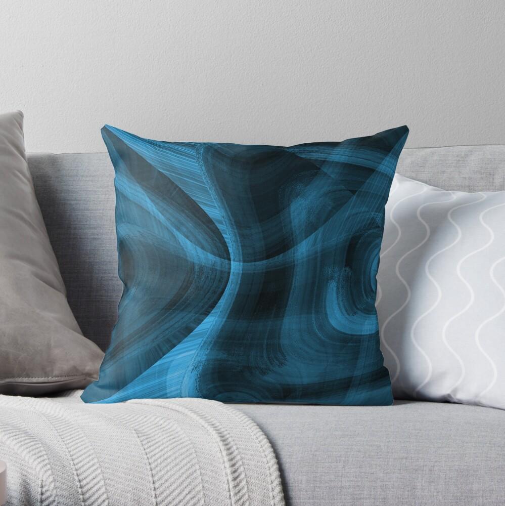Bluish Black Hole Throw Pillow