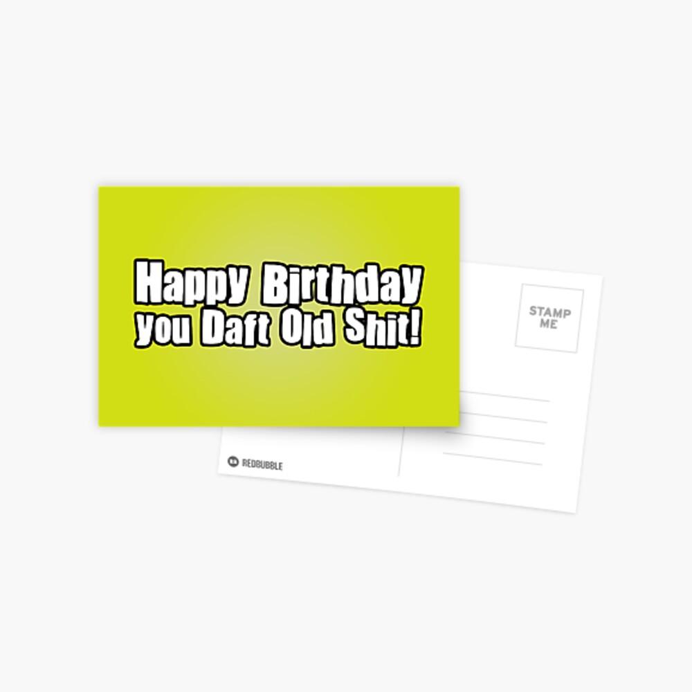 Happy Birthday Dafty Postcard