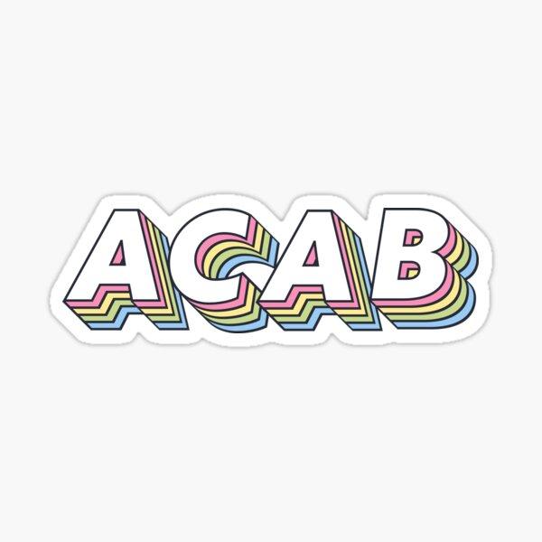 ACAB rainbow Sticker