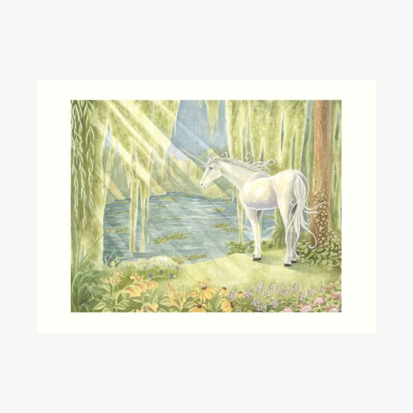 Giverny Unicorn Art Print