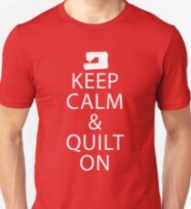 a61383f6 Keep Calm And Quilt On Slim Fit T-Shirt