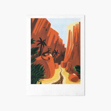 Madagascar endemic carnivore Art Board Print