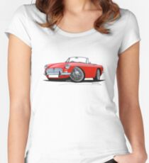 MG B Roadster Red Women's Fitted Scoop T-Shirt